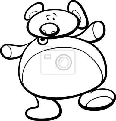 Colorear dibujos animados oso de peluche carteles para la pared ...