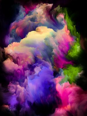 Póster Colorful Cloud Abstraction