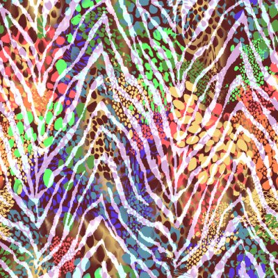 Póster Colorida textura de cebra en los puntos ~ fondo transparente