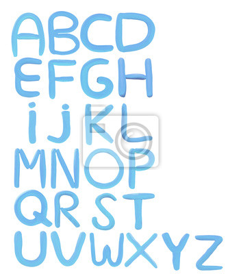 colorido arcilla escultura alfabeto A a la Z