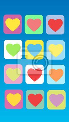 Colorido fondo abstracto del corazón