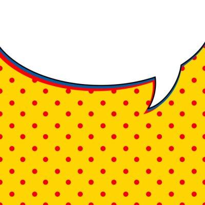 Póster Comic burbuja de la charla sobre fondo amarillo