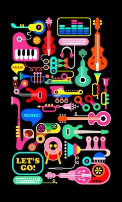 Póster Composicion musical