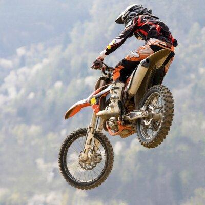 Póster con salto moto da cruz