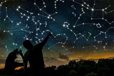 Póster Concepto de la astrología.