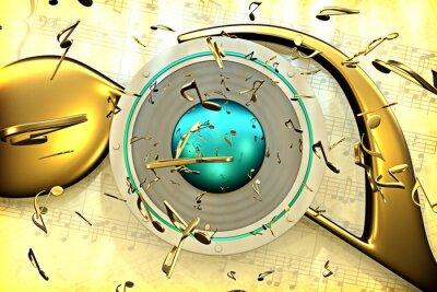 Póster concepto de la música