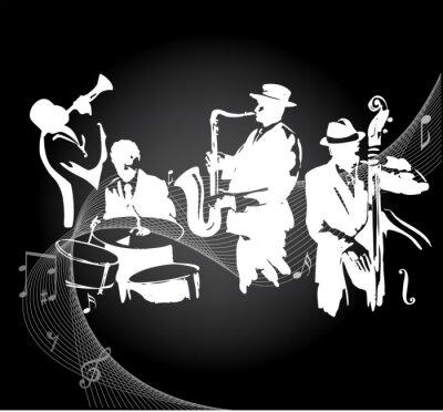 Póster Concierto de jazz de fondo negro