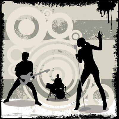 Póster concierto del vector del grunge