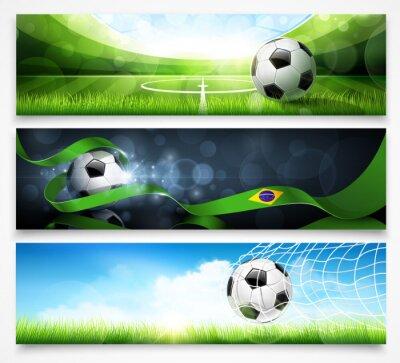 Póster Conjunto de banderas del fútbol. Vector