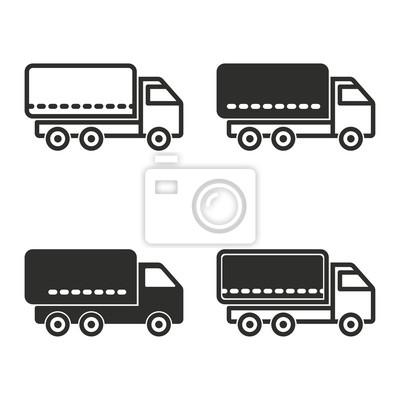 Conjunto de iconos de camiones.