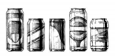 Póster Conjunto de latas de bebidas