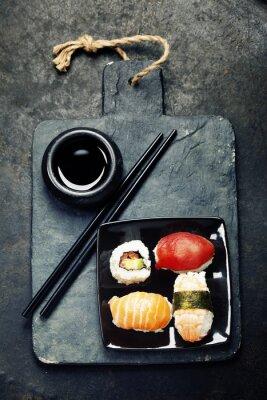 Póster Conjunto del sushi