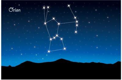 Póster Constelación de Orión