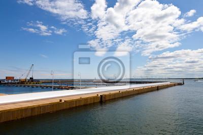Construcción de un puerto deportivo en Sopot