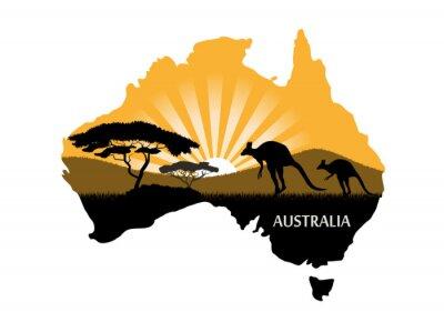 Póster Continente australiano