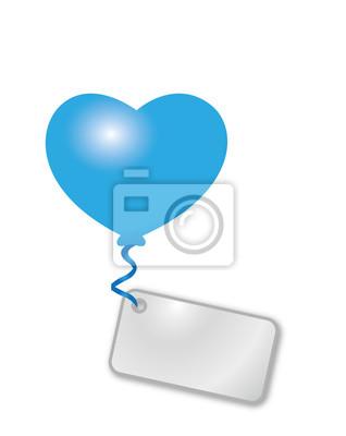 corazón azul con el mensaje
