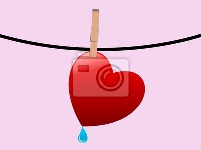 Corazón en una cuerda