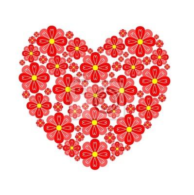 Corazón floral
