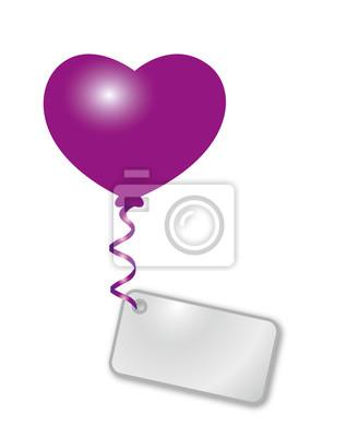 corazón púrpura con el mensaje