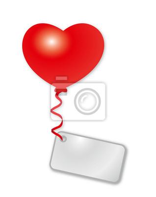 corazón rojo con el mensaje