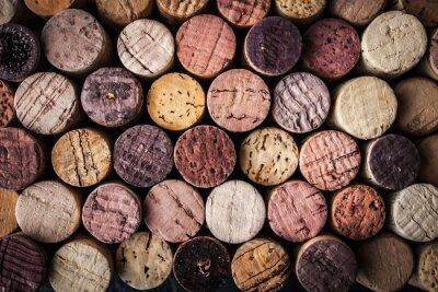 Póster Corchos de vino fondo de cerca