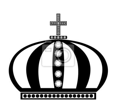 Corona Imperial En Blanco Y Negro Carteles Para La Pared Pósters