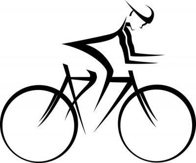 Póster Corredor de la bicicleta Accent