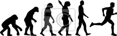 Corredor de maratón Evolución