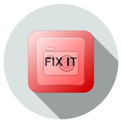Corregir el icono rojo botón