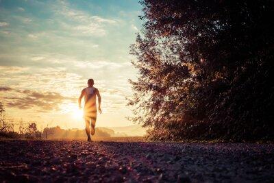 Póster Correr en el país