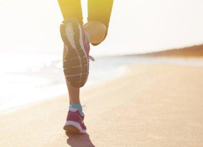 Póster Correr en la playa