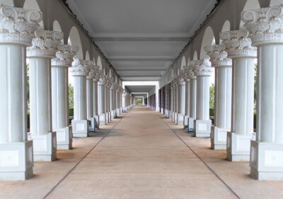 Póster corridor with columns