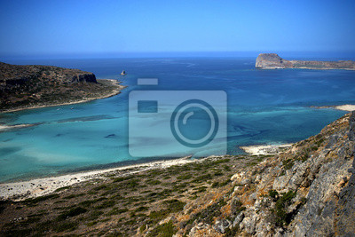 Costa de la isla de Creta en Grecia