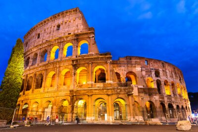 Póster Crepúsculo Coliseo, Roma, Italia