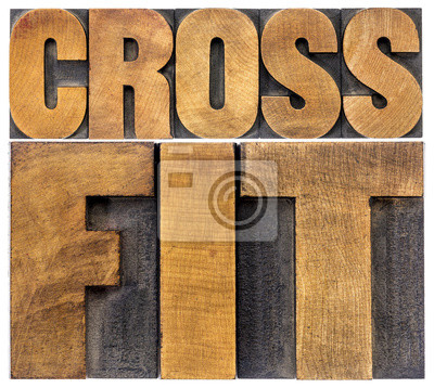 Póster crossfit word abstract