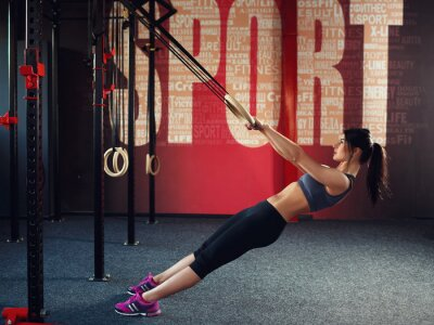 Póster Crossfit workout on ring