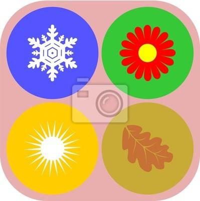 Cuatro estaciones círculo