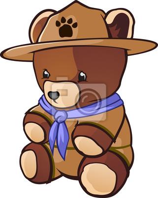 Cub Scout Oso De Peluche De Dibujos Animados Carteles Para La Pared
