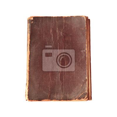 cubierta de libro viejo aislado en blanco