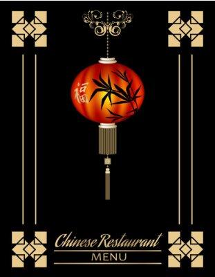 Póster Cubierta del menú del restaurante chino