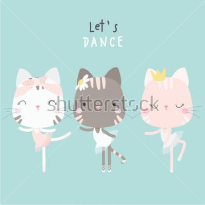 Póster cute cat dance