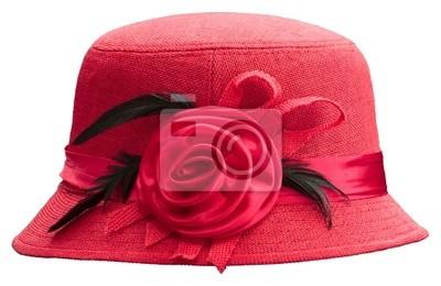 De color rojo sombrero de Inglaterra aislado blanco