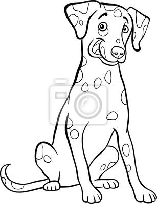 De dibujos animados de perro dálmata para colorear libro carteles ...