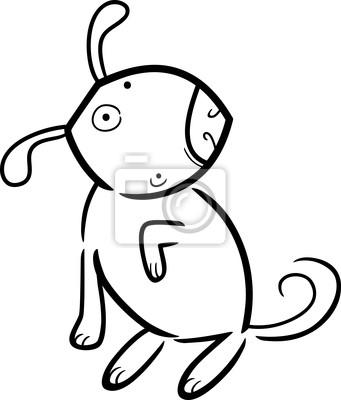 De dibujos animados dibujo de perro para colorear carteles para la ...