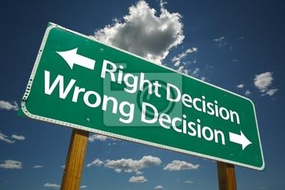 Decisión correcta, una decisión equivocada Señal