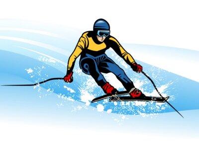 Póster deporte de invierno