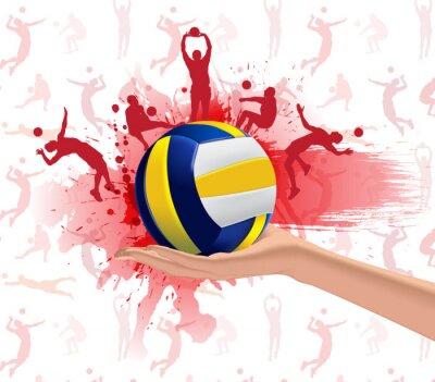 Póster Deporte Voleibol diseño de fondo