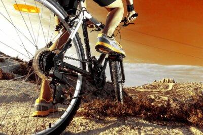 Póster Deportes. Bicicleta de Montaña y hombre.Deporte en exteriores