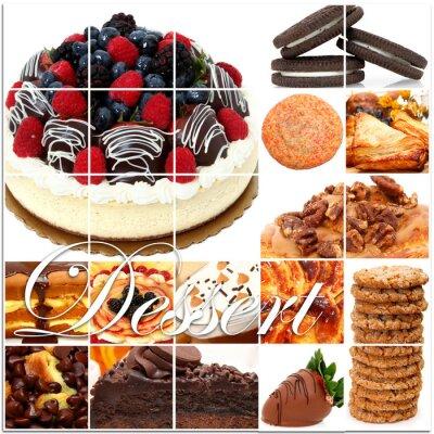 Póster Dessert Collage