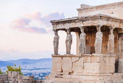 Póster Detalle de Erechtheion en la Acrópolis de Atenas, Grecia